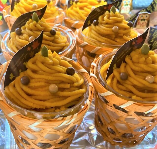 クレームキャラメルとえびすかぼちゃのモンブラン
